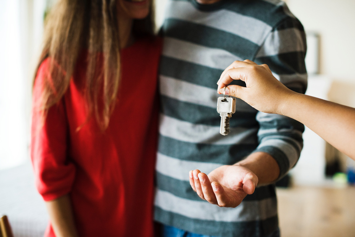 getting the keys to a new home