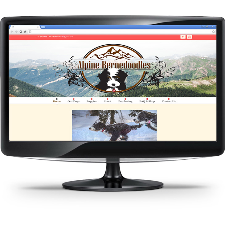 Alpine Bernedoodles new logo and website
