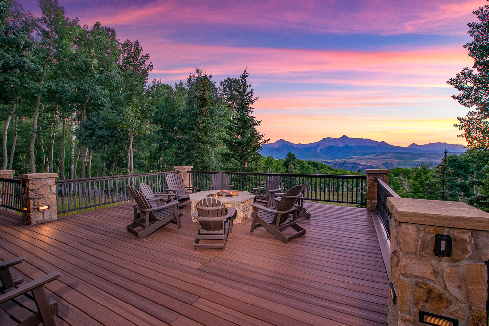twilight real estate photography in Telluride, Colorado by BPetersonDesign
