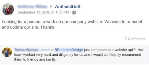 Local Recommendation on AnthemStuff Facebook Group