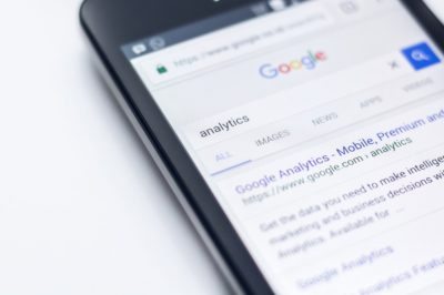 analytics for SEO on a mobile device