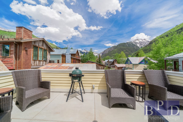 outside deck of a home cleaned and staged in Telluride