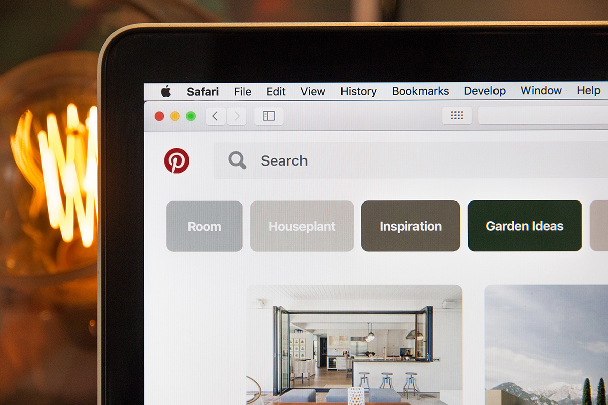 prepare for a brand photoshoot by making a Pinterest board