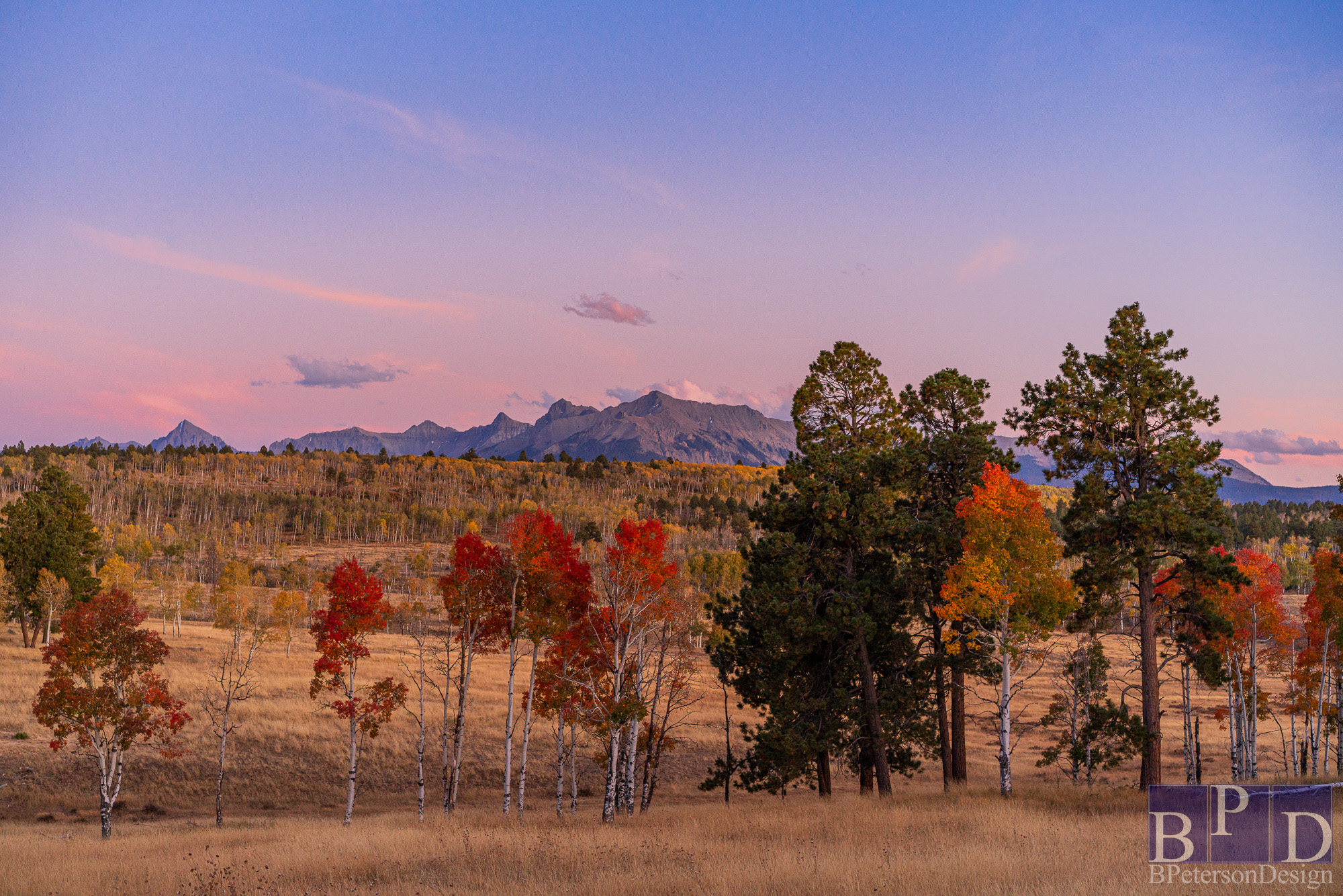 Colorado Fall at Sunset Photography