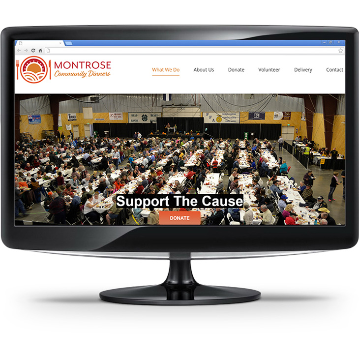 Montrose Community Dinners Website Screenshot