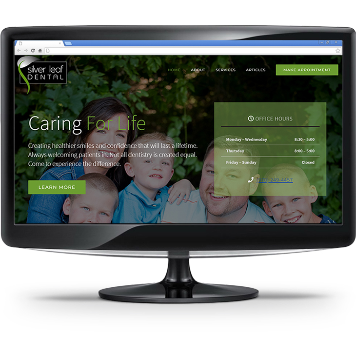 Silver Leaf Dental website