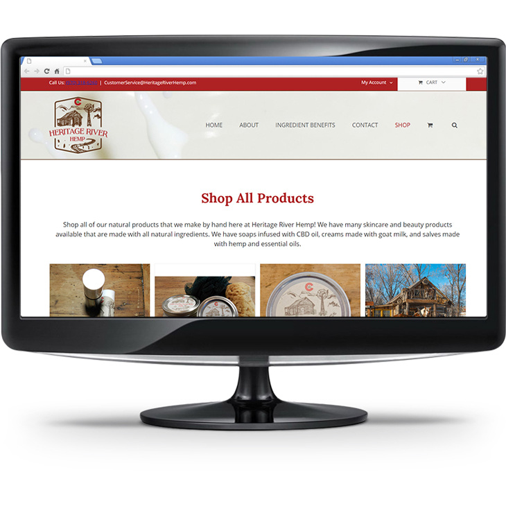 Heritage River Hemp - Ecommerce Website Example