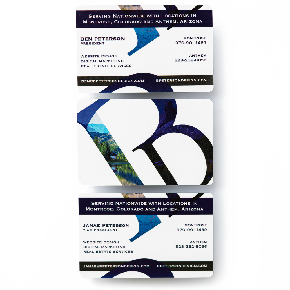 BPetersonDesign business card example
