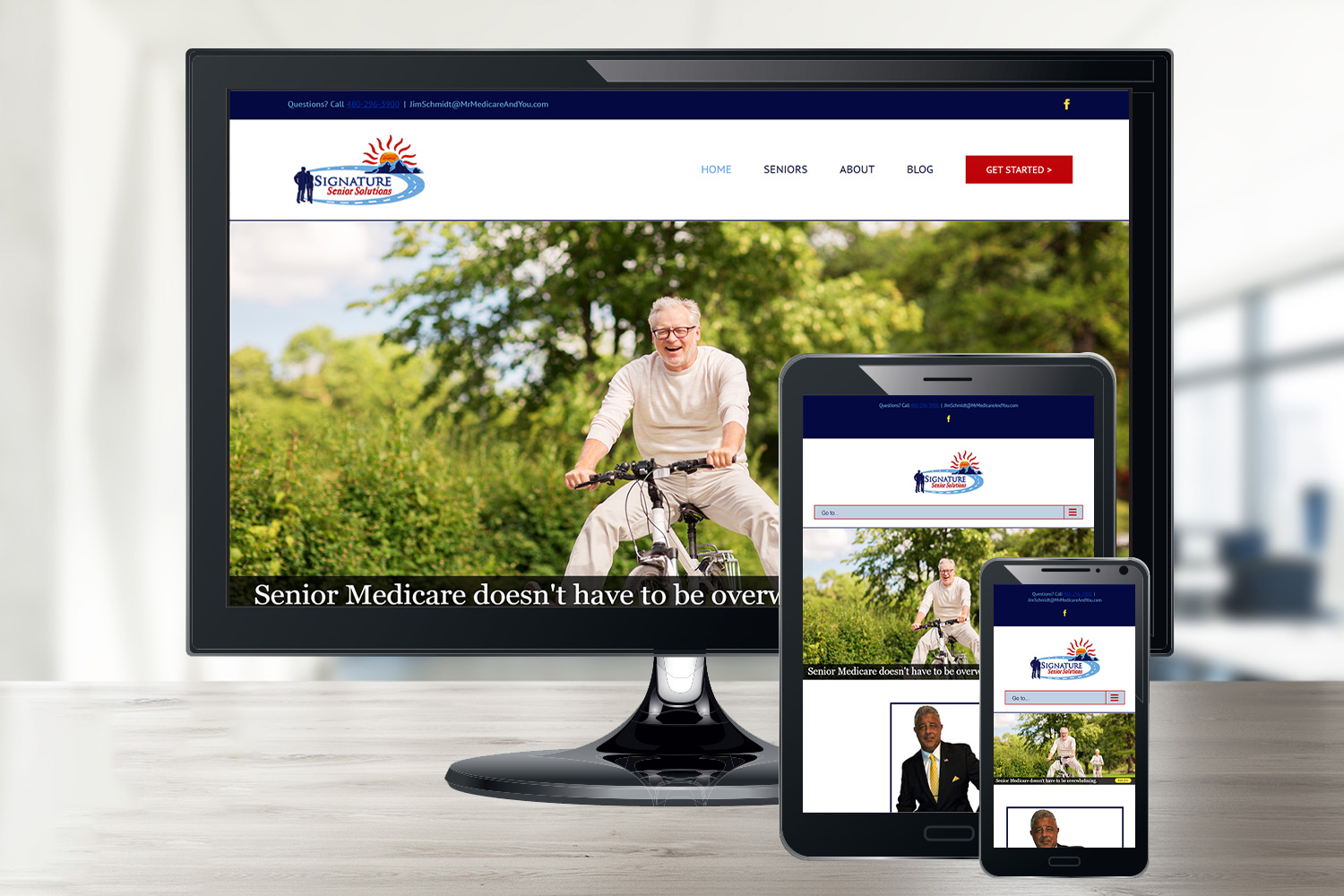 Signature Senior Solutions' Website in Cave Creek, AZ