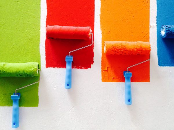 colorful paint used in branding