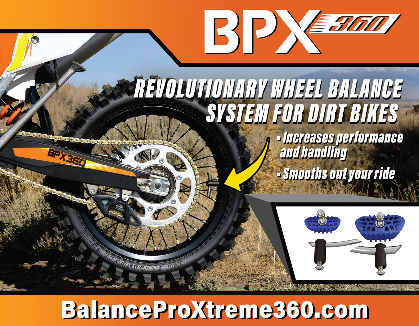BPX360 Ad for Dirt Bike Magazine