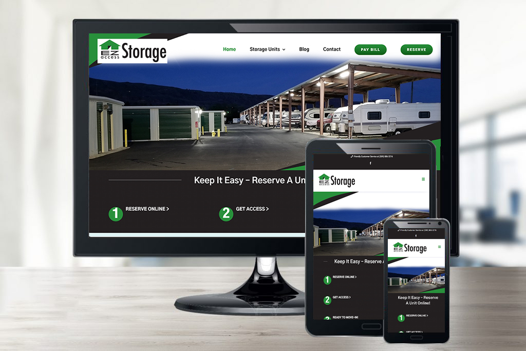 EZ Access Storage's Small Business Website Design in Wenatchee, WA