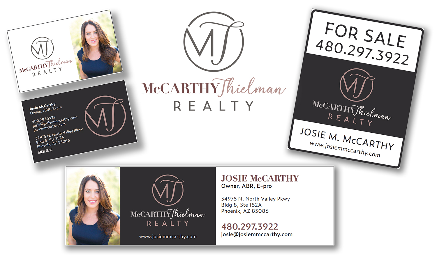 Graphic Design Brand Identity for McCarthy Thielman Realty in Phoenix, AZ