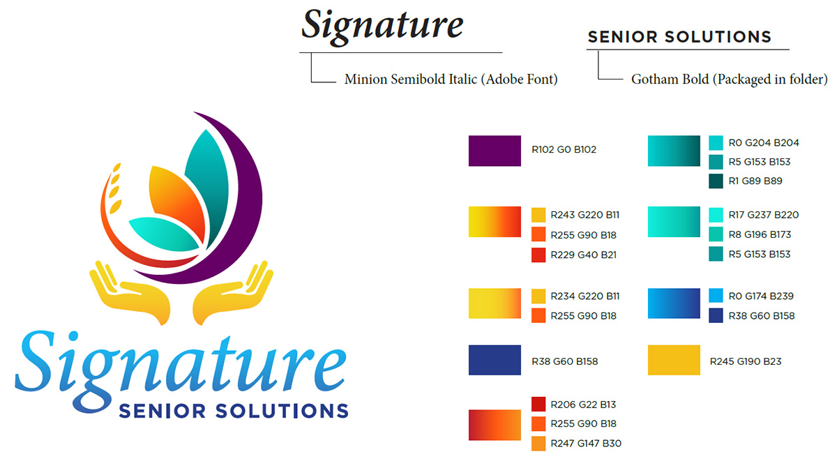 Custom Logo Design for Signature Senior Solutions in Cave Creek, AZ