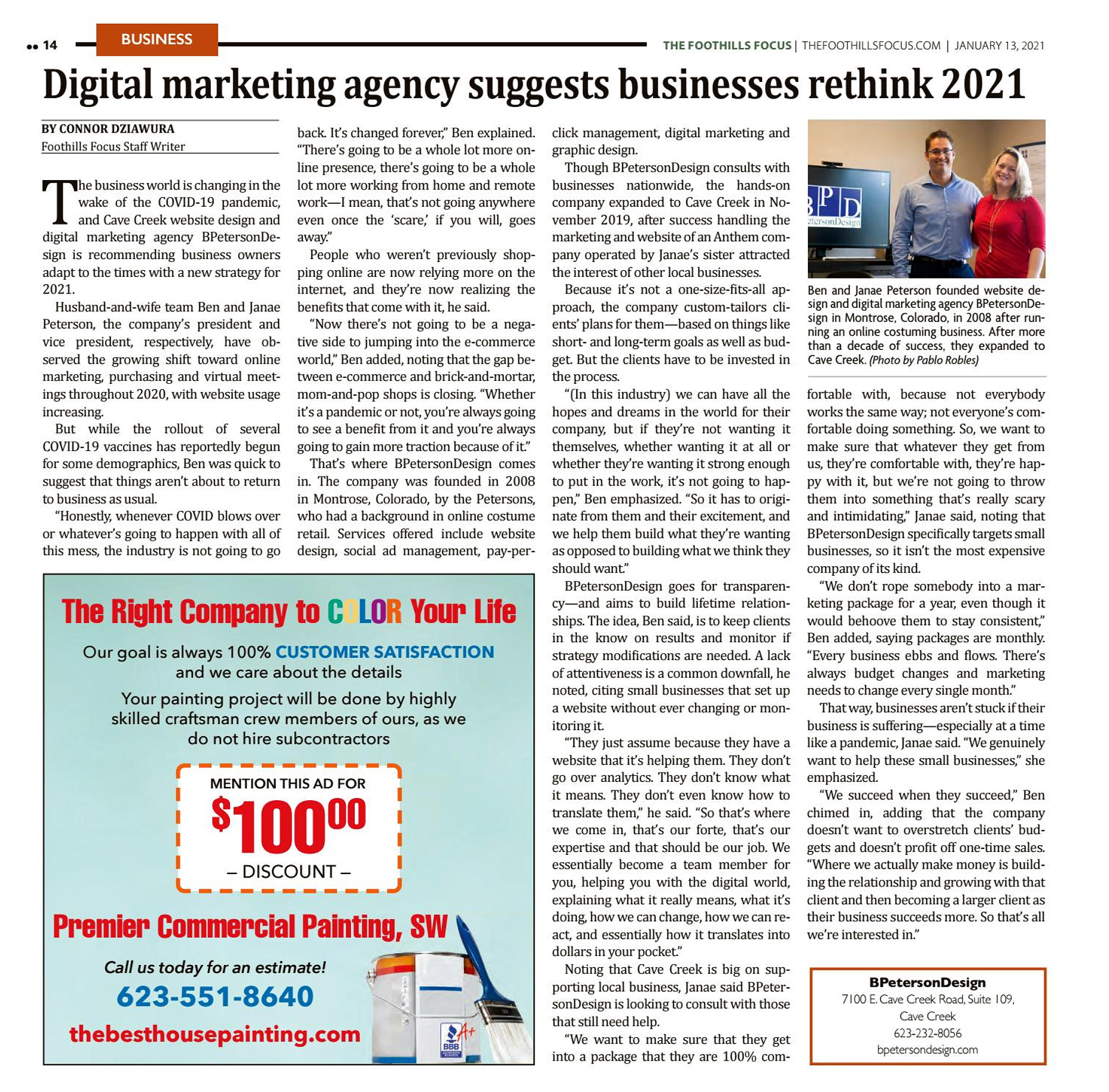 The Foothills Focus - Digital marketing agency suggests businesses rethink 2021