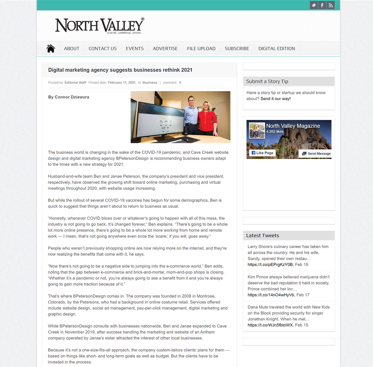North Valley Magazine Featured Article