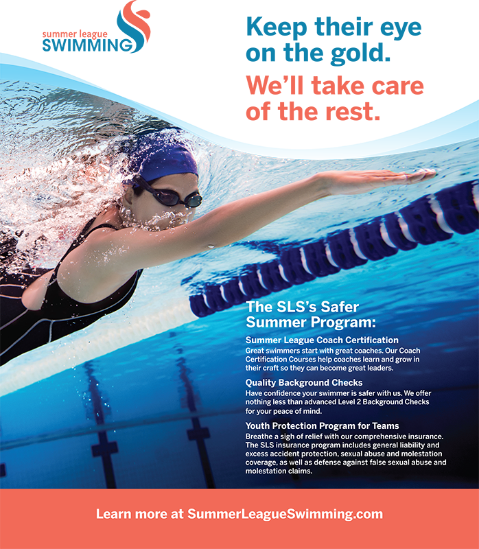 Graphic Design for Full Page Magazine Ad for Summer League Swimming Phoenix